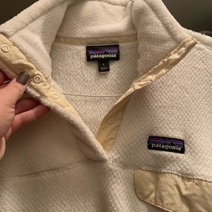 Women's White Patagonia Pullover